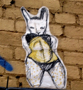 Miso wheatpaste, Croft Alley, wheatpastes, street art, street artists, is it art?