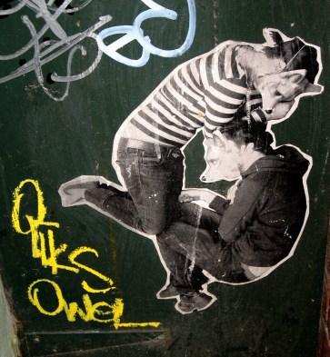 Miso | Ghostpatrol | Niagara Lane, street art, street artists, wheatpastes, wheaties, is it art?