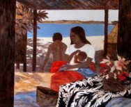 Ray Crooke, mother and child, Australian artists, is it art?