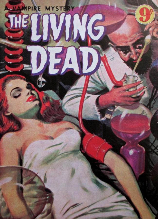The Living Dead - Vampire mystery cover, cover art, is it art?