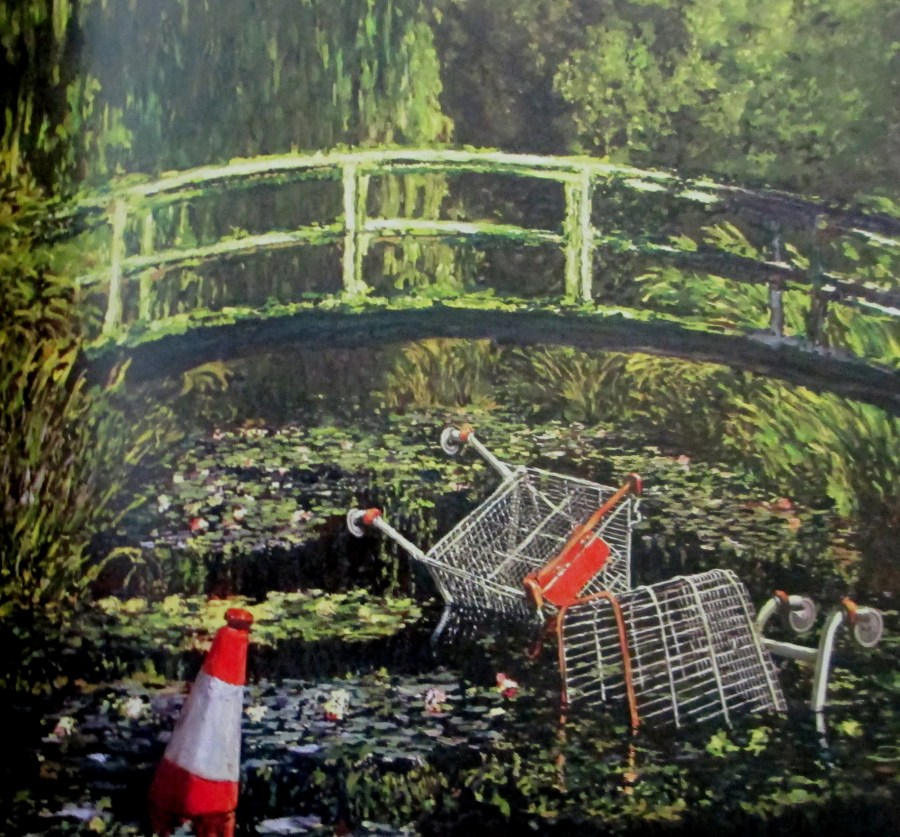 Banksy | Show Me the Monet, Claude Monet, Monet's Bridge, Giverny, Banksy