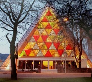 Shigeru Ban - Cardboard Cathedral Christchurch, is it art? architecture,