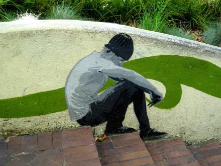 ELK Canberra, ELK, Luke Cornish, street art, street artists, Canberra, is it art? stencil art,