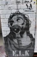 ELK Chemtrails, street art, street artists, stencil art, is it art?