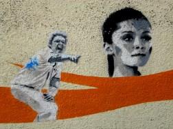 ELK stencils of Shane Warne & Schappelle corby, ELK, street art, street artists, Canberra, is it art?