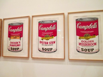 Andy Warhol Campbell's Soup III, Andy Warhol, Campbell's soup, chicken 'n dumplings soup, oyster stew soup, golden mushroom soup, pop art, is it art?