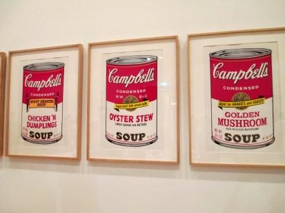 Andy Warhol Campbell's Soup III, Andy Warhol, Campbell's soup, chicken 'n dumplings soup, oyster stew soup, golden mushroom soup, pop art, is it art?