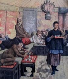 Fumerie d'Opium (Opium Den) Postcard | Territoire de Kouang-Tcheou-Wan Indochina