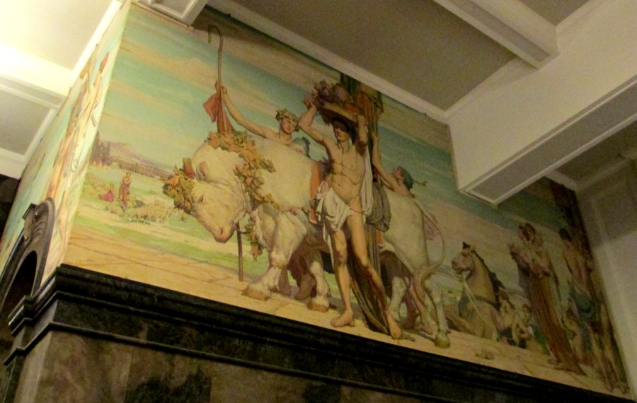 Mervyn Napier Waller Mural   State Library of Victoria