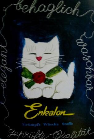 Herbert Leupin - Enkalon poster advertisement