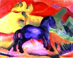 Franz Marc | The Little Blue Horse