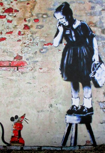 Banksy| | Girl With Rat