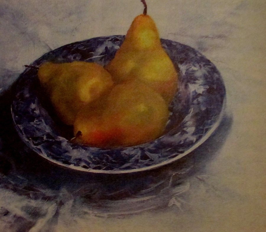 Catherine Tait | Pears in a Blue Bowl