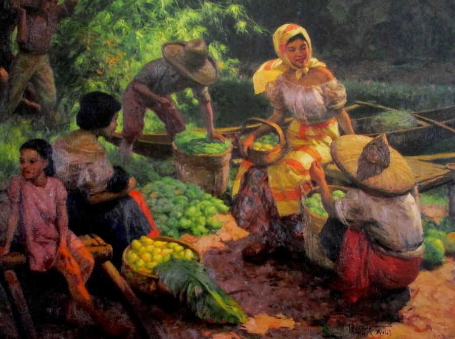 Fernando Cueto Amorsolo | Gathering the Mangoes