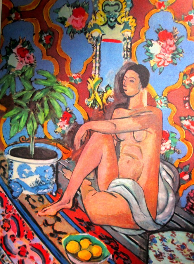 Henri Matisse | Decorative Figure on Ornamental Background (1927)