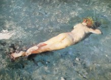 Mariano Fortuny | Nude on the beach at Portici