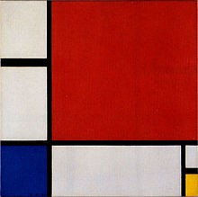 Piet Mondrian | Composition II in red, blue and yellow (1930)