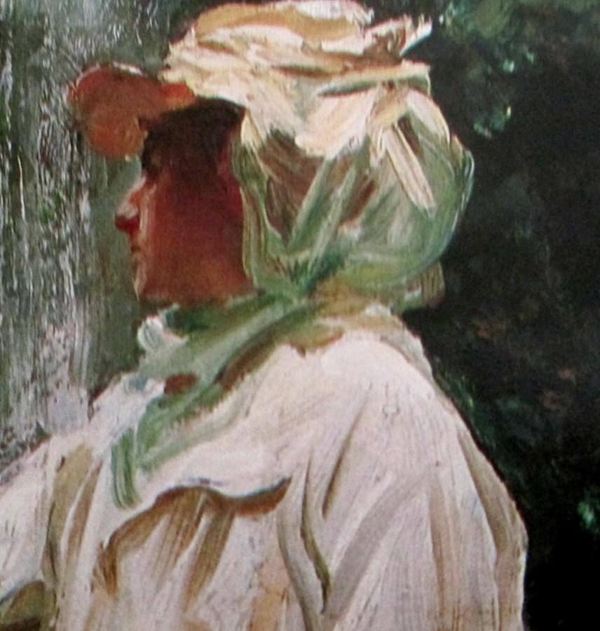 John Singer Sargent | Fountain Villa Torlonia, Frascati, near Rome Italy (1907) [Detail]