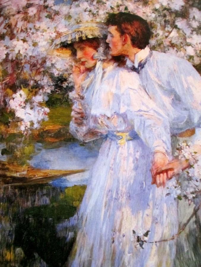 John William Waterhouse | Gathering Almond Blossom