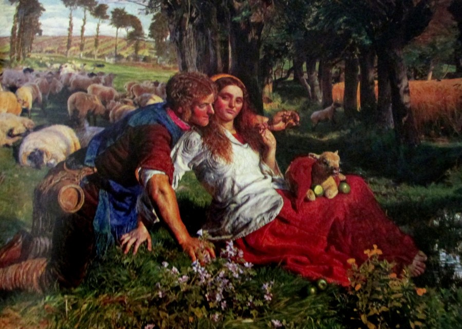 William Holman Hunt   The Hireling Shepherd (1851)