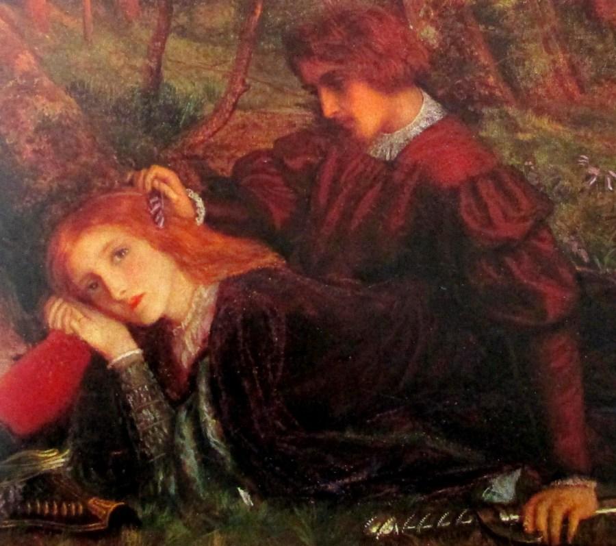 Arthur Hughes | The Brave Geraint (Geraint and Enid) c1860