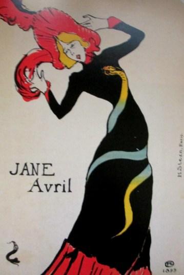Henri de Toulouse-Lautrec   Jane Avril litho