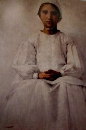 Henry Herbert La Thangue | Portrait of a Breton Peasant Girl 1880