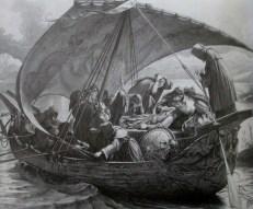 Joseph Noel Paton   The Passing of Arthur 1862 sepia Glasgow Museums Art Gallery and Museum Kelvingrove