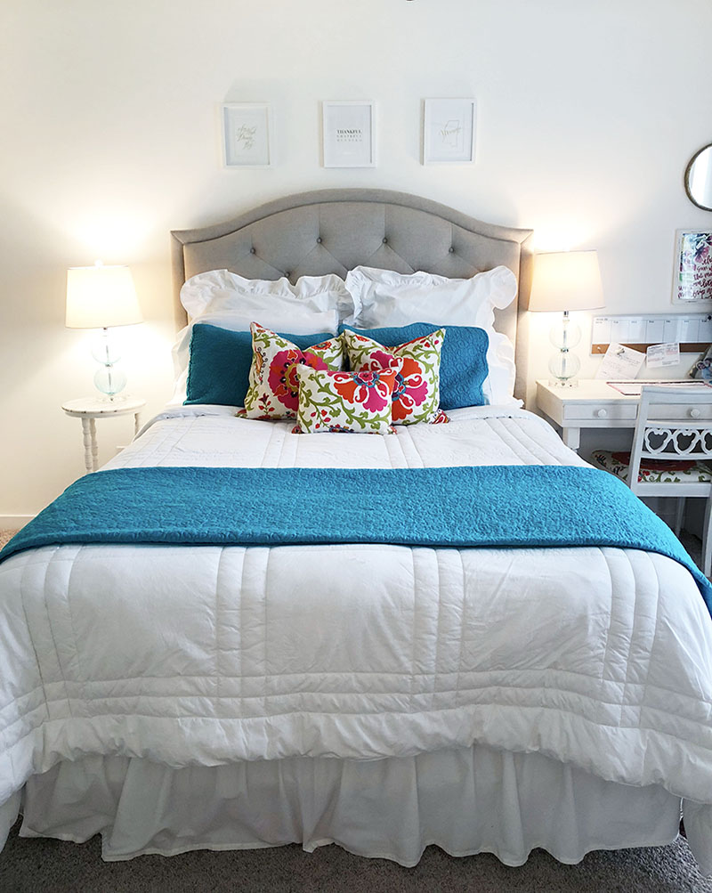 Mostly White Bedroom with a Pop of Color   Mary Anna Jefcoat