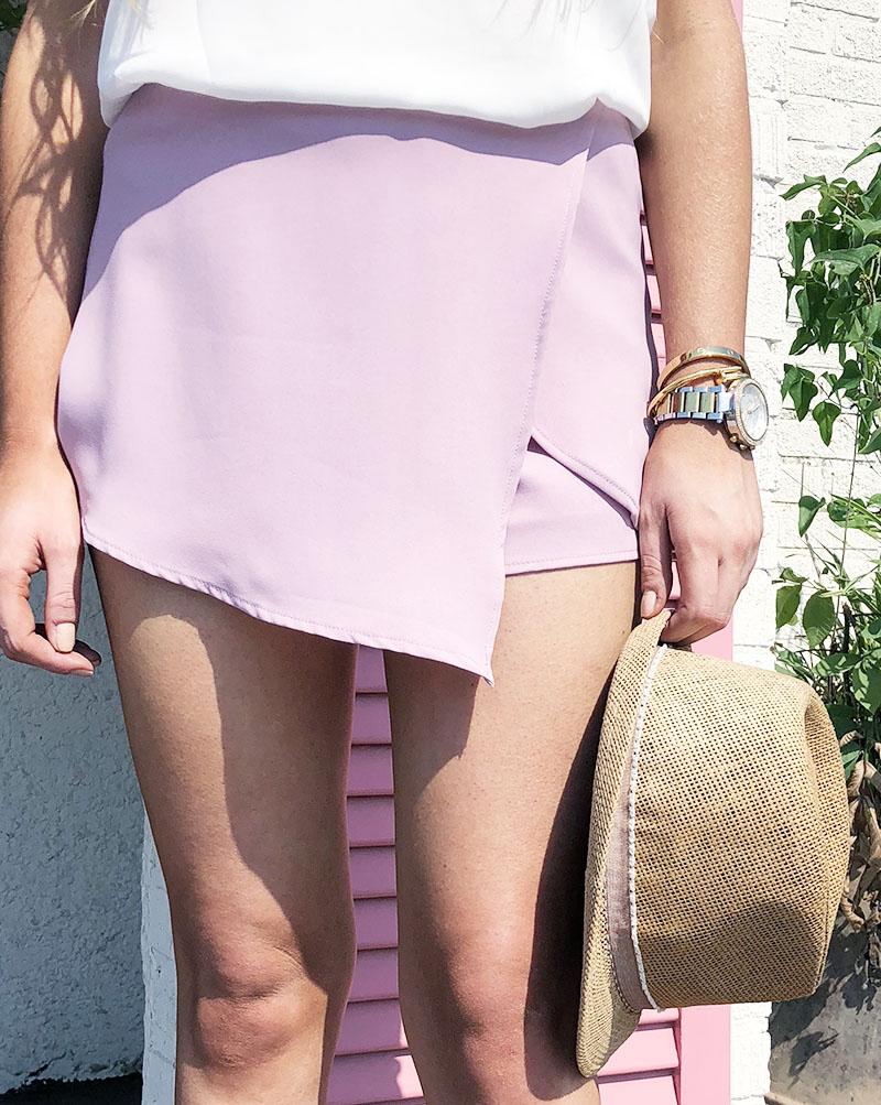 9c5ff7bbf3b lilac enelope skort - fedora - michael kors watch - mary anna jefcoat  fashion blog