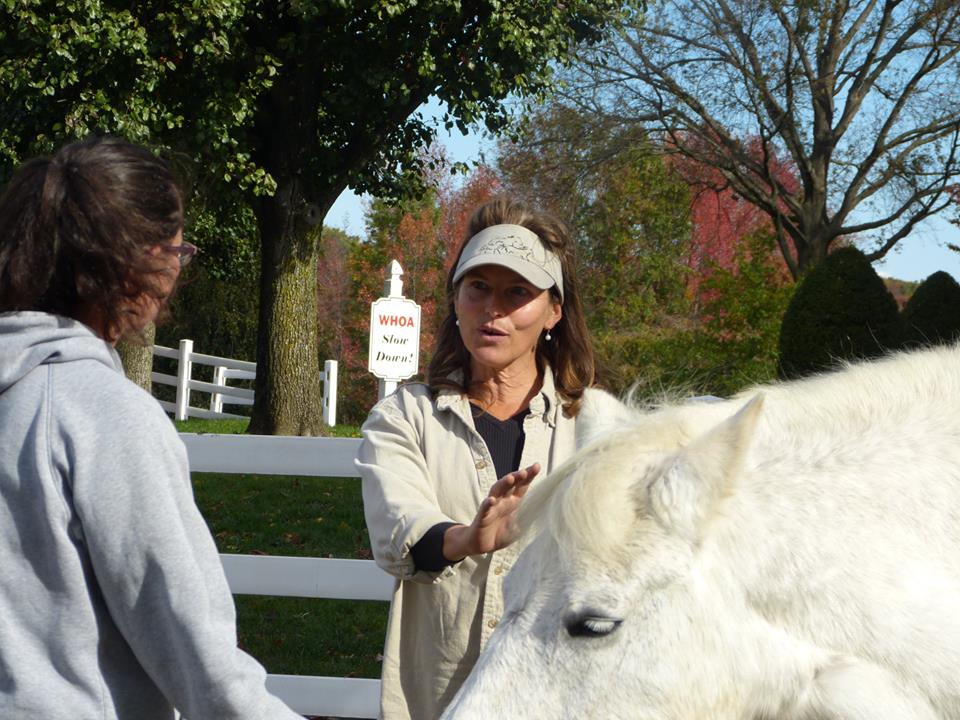 MaryAnn riding in Peace