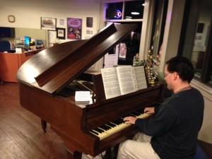 Paul playing piano