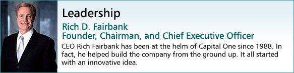 Thank you, Capital One Chief Executive Rich Fairbank