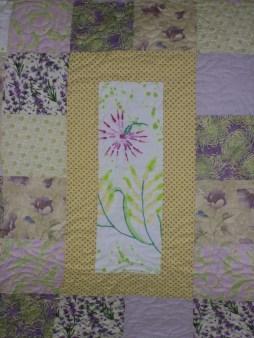 Center block of quilt