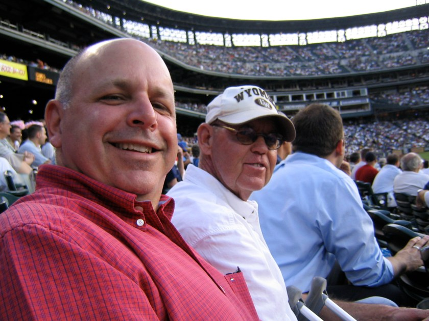 Cubs at Rox during hip fracture. Cousin Michael and Earl