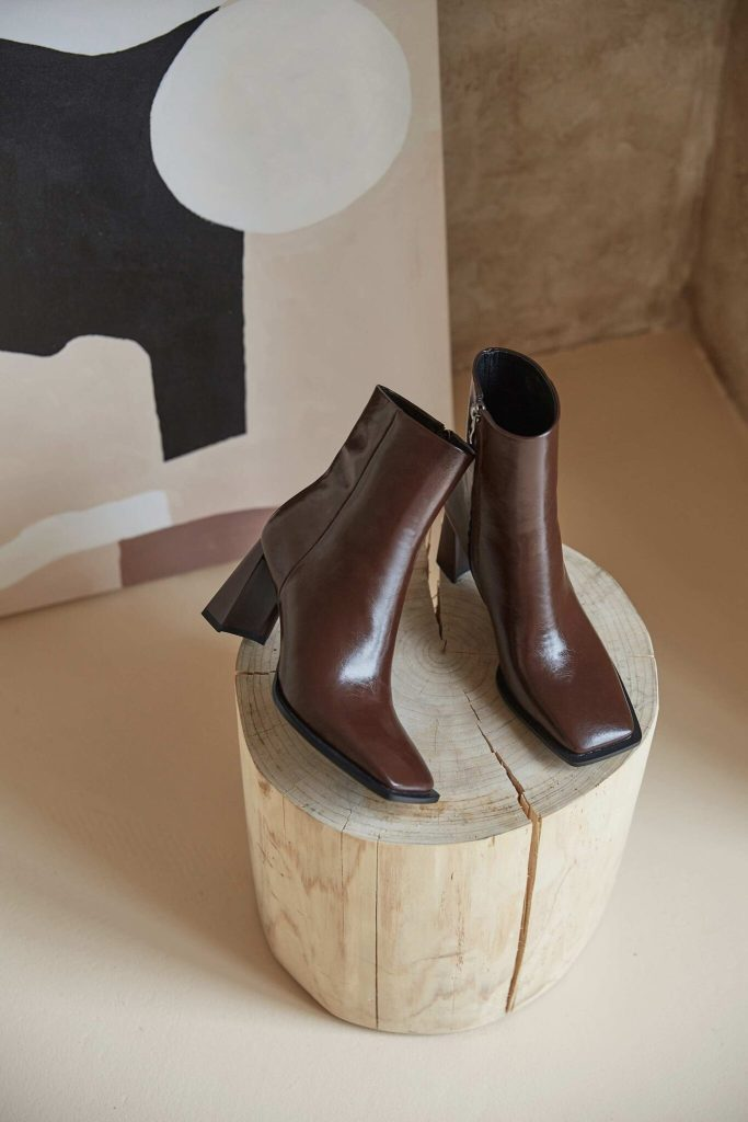 Sleek Square Toe Leather Boots (3 Colors)