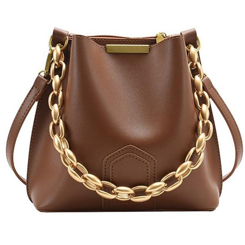 Gold Chain Bucket Handbag (3 Colors)