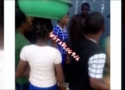 Lady Refuses To Eat Out Of The Assorted Meat She Sells In Okokomaiko, Lagos