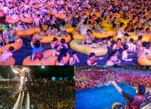 Life after the coronavirus: Thousands flock to Wuhan pool party