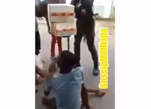 More COVID-19 Palliatives In Calabar As Policeman Gives A Disabled His Own Share
