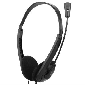 1pcs Wired Black Earphone Earphones Stereo Headphones