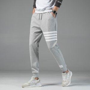 Men's Casual Sweatpants Solid High Street Trousers Men Joggers