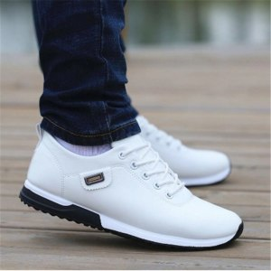 Fashion Outdoor Breathable Sneakers Men's PU Leather