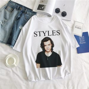 Unisex Geek Hip-hop Tshirts Funny Aesthetic Casual Harry Styles Cartoon