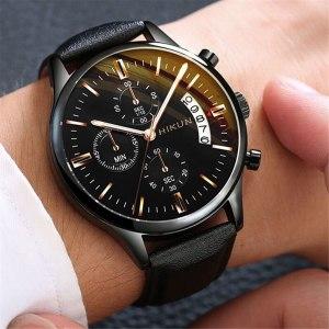Luxury Mens Watches Stainless Steel Mesh Strap Dial Men's Calendar Watch