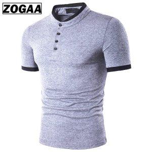 Men's Shirt Cotton Short Sleeve Shirt Casual Male Polo Shirt