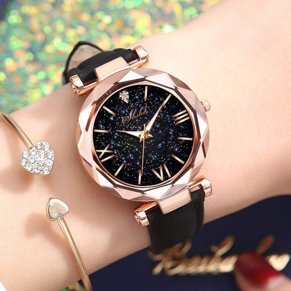 Fashion Luxury Watch Men Women Stars Little Point Frosted Quartz Watch