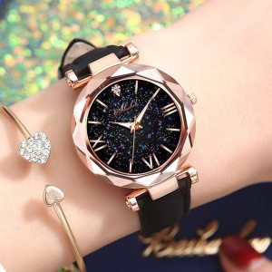 Fashion Luxury Watch Men Women Stars Little Point Frosted Quartz Watch