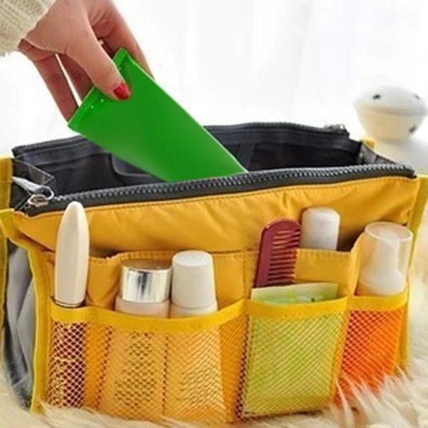 Women Makeup Cosmetic Bag Nylon Travel Insert Organizer Handbag