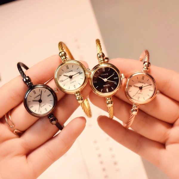 Small Gold Bangle Bracelet Luxury Watches Stainless Steel